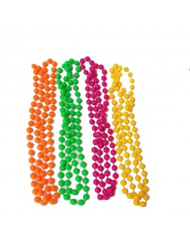 Neon 80s Beaded Necklaces
