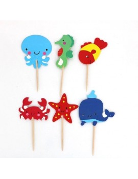 Under The Sea Cupcake Toppers