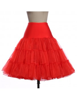 Red net petticoat underskirt Brilliant Sisters