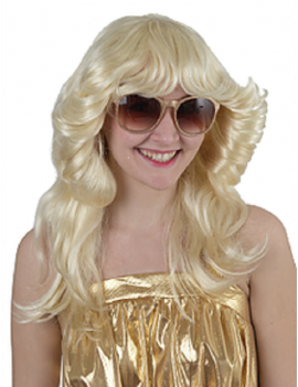 Classic 70s Flick Blonde Wig