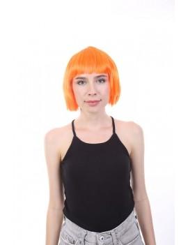 Neon Orange Bob Wig