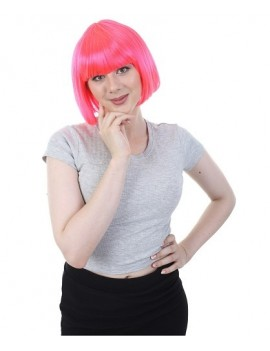 Neon Hot Pink Bob Wig