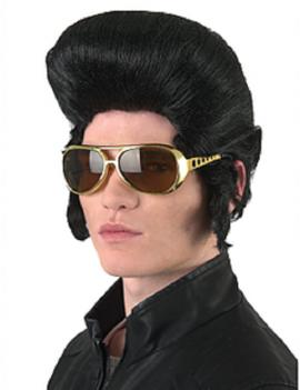 Elvis Classic Quiff Black Wig