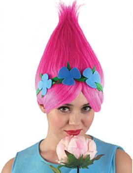 Troll Pink Poppy Wig