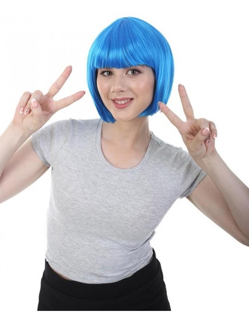 Neon Blue Bob Wig