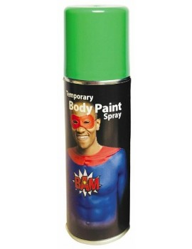 Temporary Body Paint Spray Green 125ml