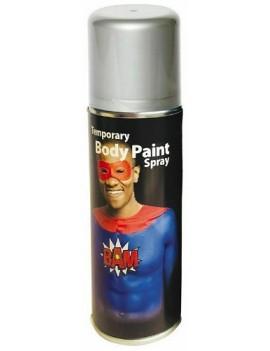 Temporary Body Paint Spray Silver Grey 125ml