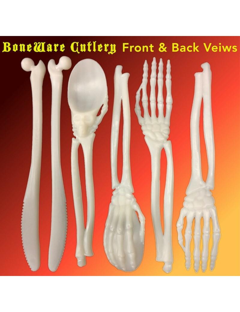 Skeleton Bones Plastic Cutlery