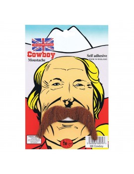 Cowboy Moustache Brown