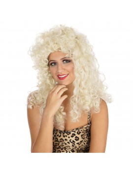 Curly Long Blonde Wig