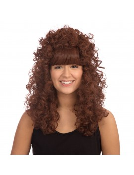 Curly Long Dark Brown Wig