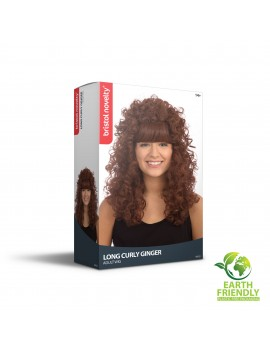 80s Long Brown Curly Wig