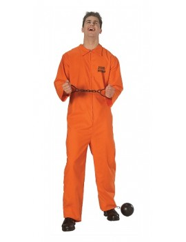 Jail Bird Prisoner Orange Jumpsuit