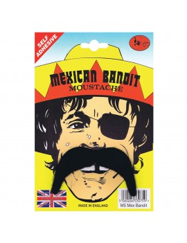 Mexican Bandit Moustache Black