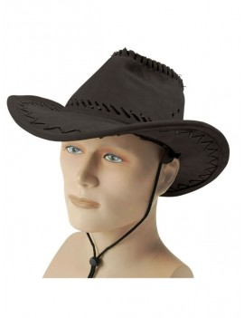 Cowboy Stitched Style Hat Black Bristol Novelty BH438