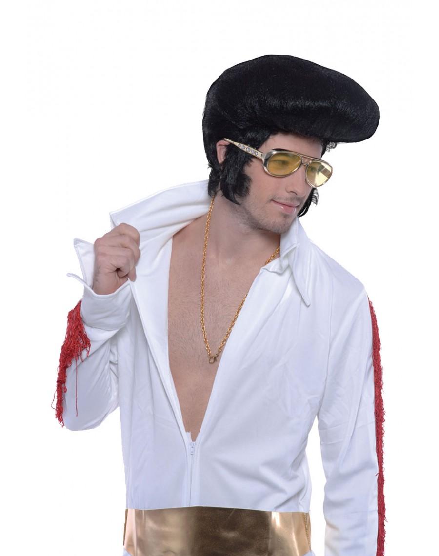 8e9a0acfbd4 Elvis Las Vegas Black Quiff Deluxe Wig Bristol Novelty BW071