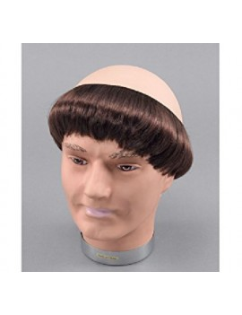 Monks brown wig Bristol Novelty BW640