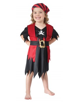 Pirate Girl Child Toddler Costume Bristol Novelty CC010