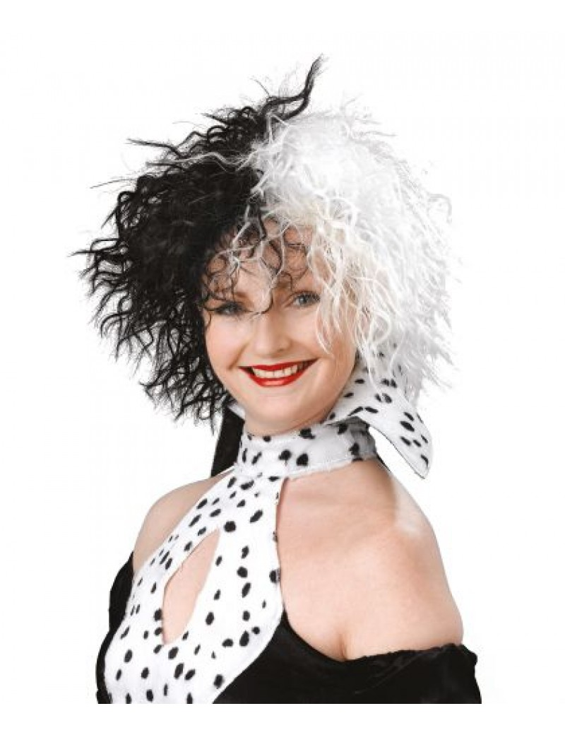 Cruella Dog Lovin Diva wig Bristol Novelty BW432