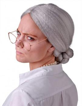 Granny bun wig grey Bristol Novelty BW136