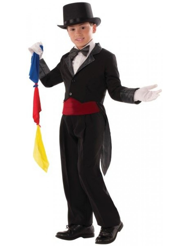 Magicians Tailcoat Black Child Costume Bristol Novelty 76468 X76469