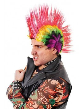 Punk mohican wig multi coloured Bristol Novelty BW788