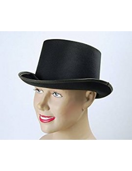 Top Hat Satin Look Black Bristol Novelty BH476
