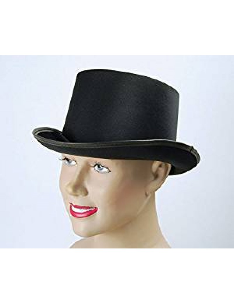 Top Hat Black Satin Look