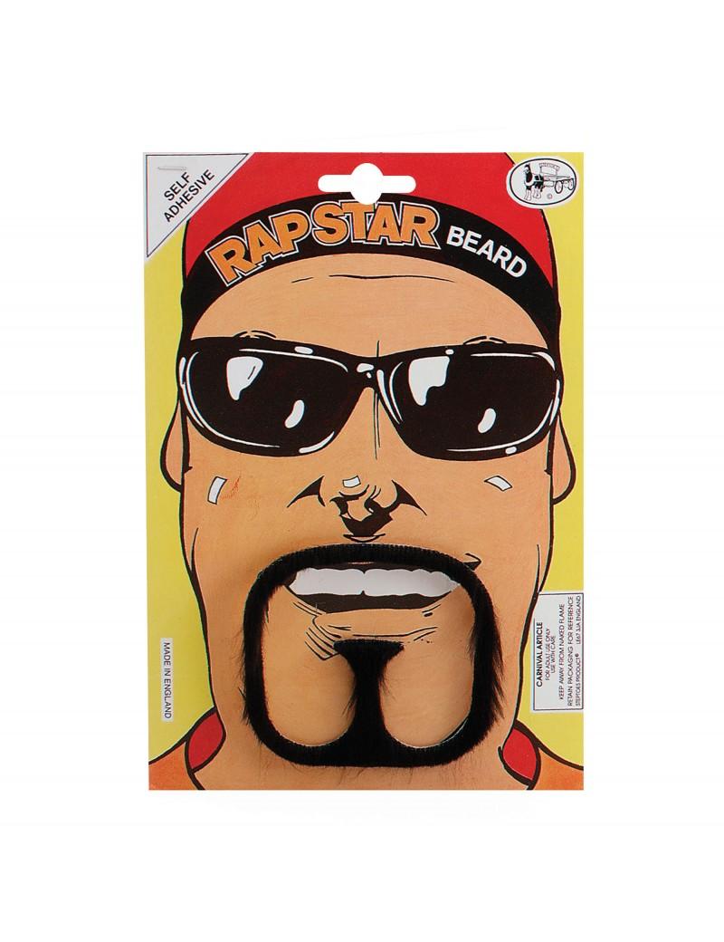 Rap Star Beard Black