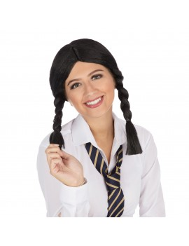 Schoolgirl Wig Black