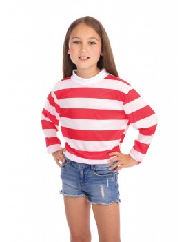 Striped Top Red And White