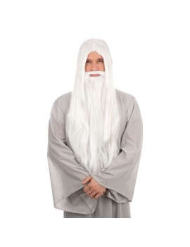 Wizard Wig And Beard Long White