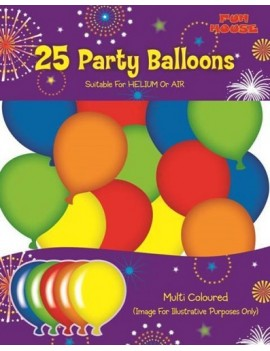Coloured Latex Balloons Pack Of 25