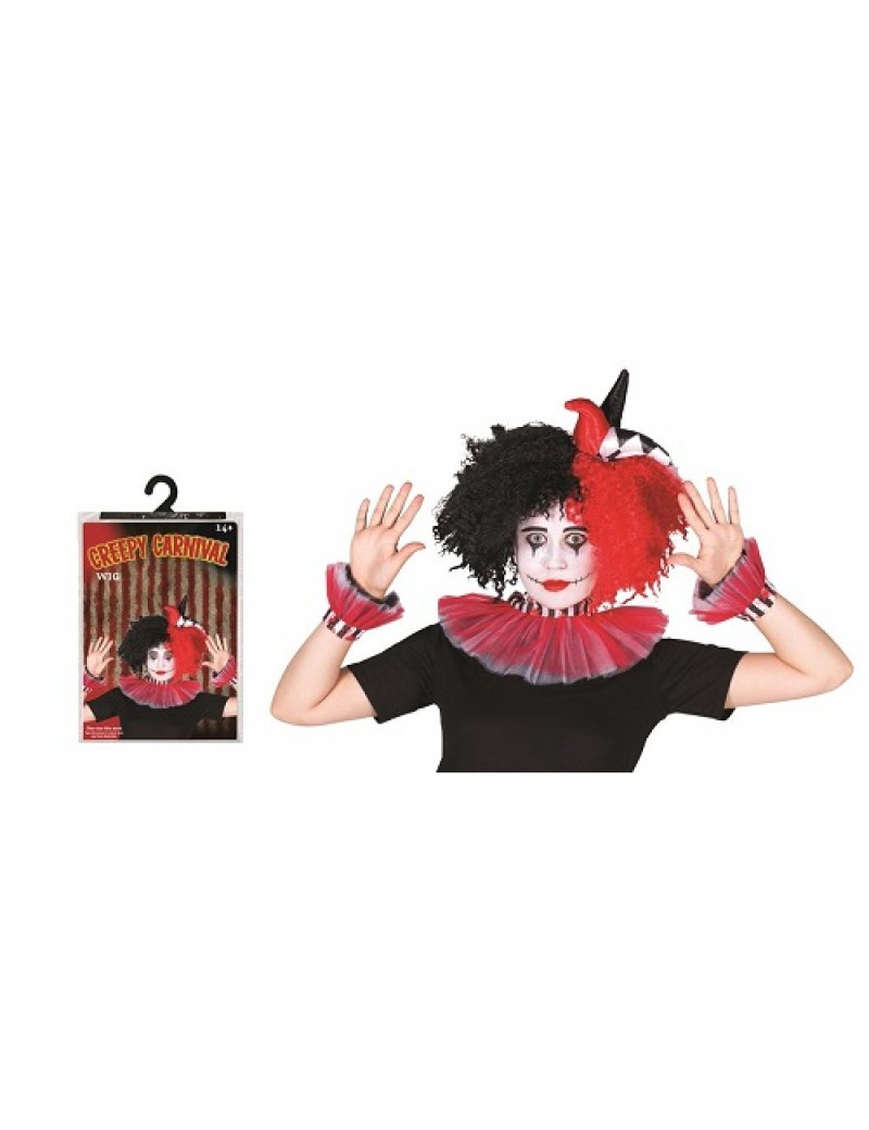 Creepy Carnival Clown Womans Wig