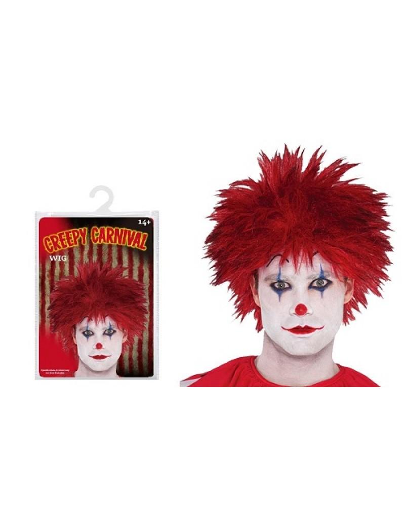 Creepy Carnival Clown Mens Wig
