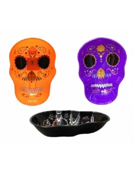 Day Of The Dead Plastic Skull Bowls