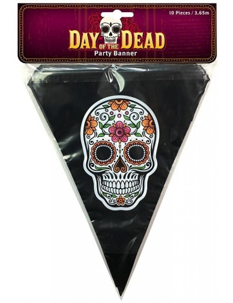 Day Of The Dead Plastic Bunting