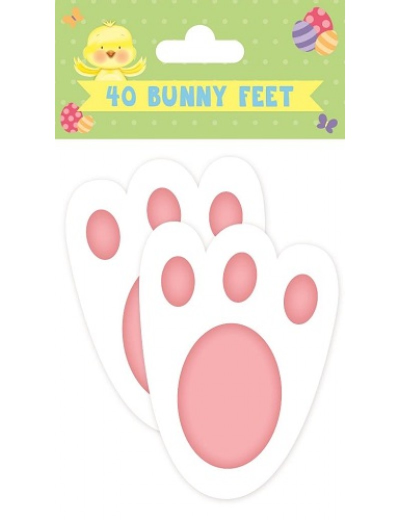 Easter Bunny Feet Card Cutouts