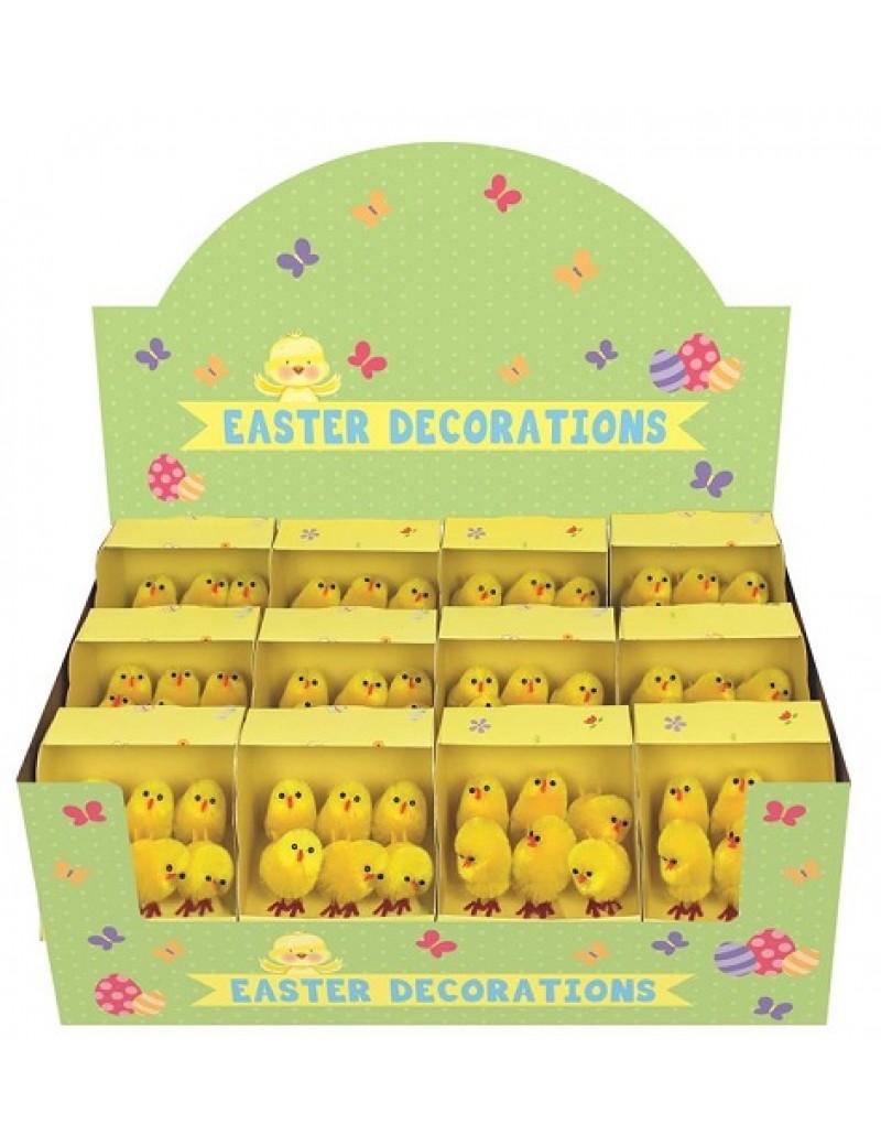 Pack Of 6 Mini Easter Chicks