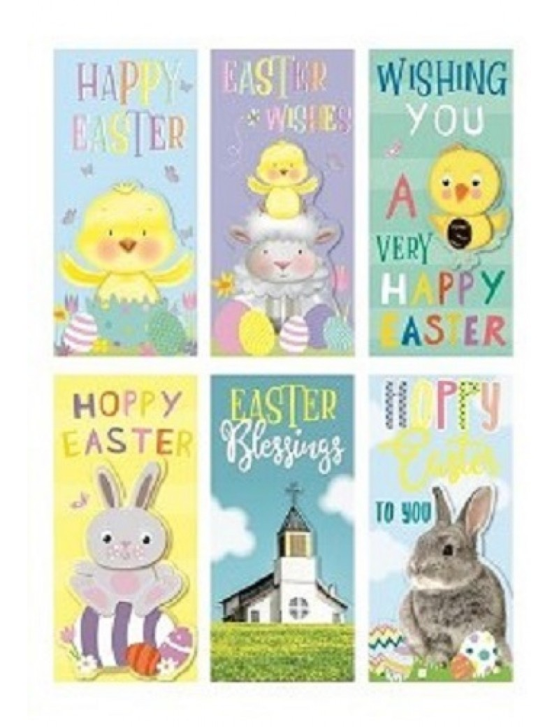 Easter Money Gift Wallets x 6