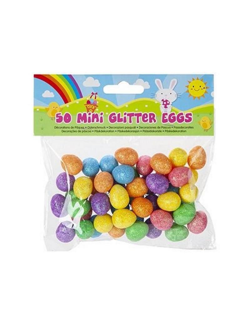 Pack Of 50 Mini Glitter Eggs