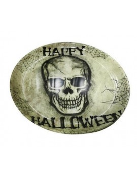 Skull Halloween Round Serving Tray