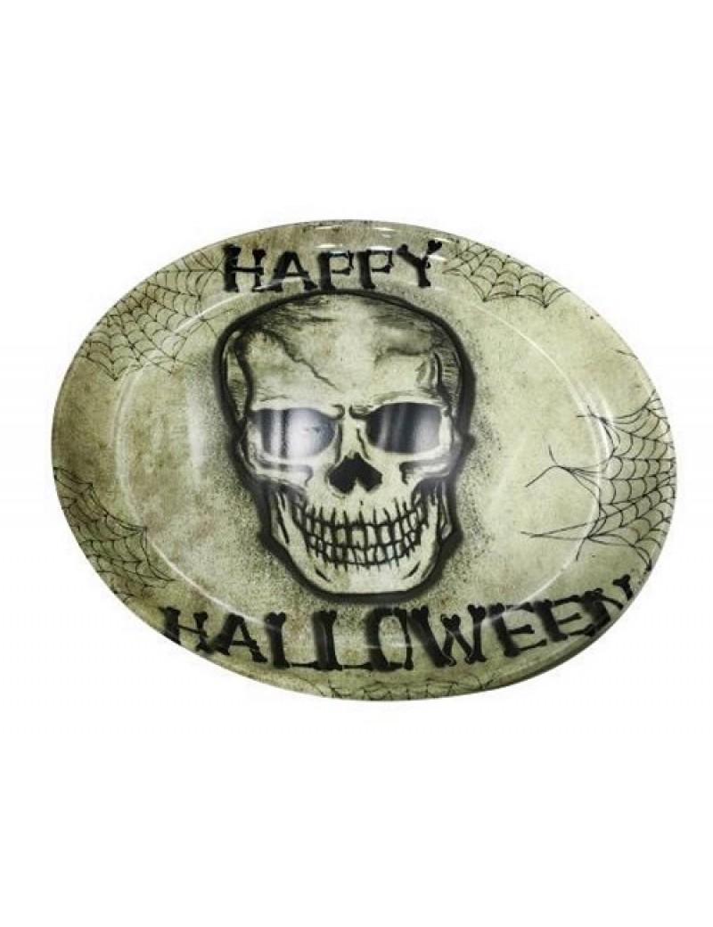 Skull Halloween Round Serving Tray