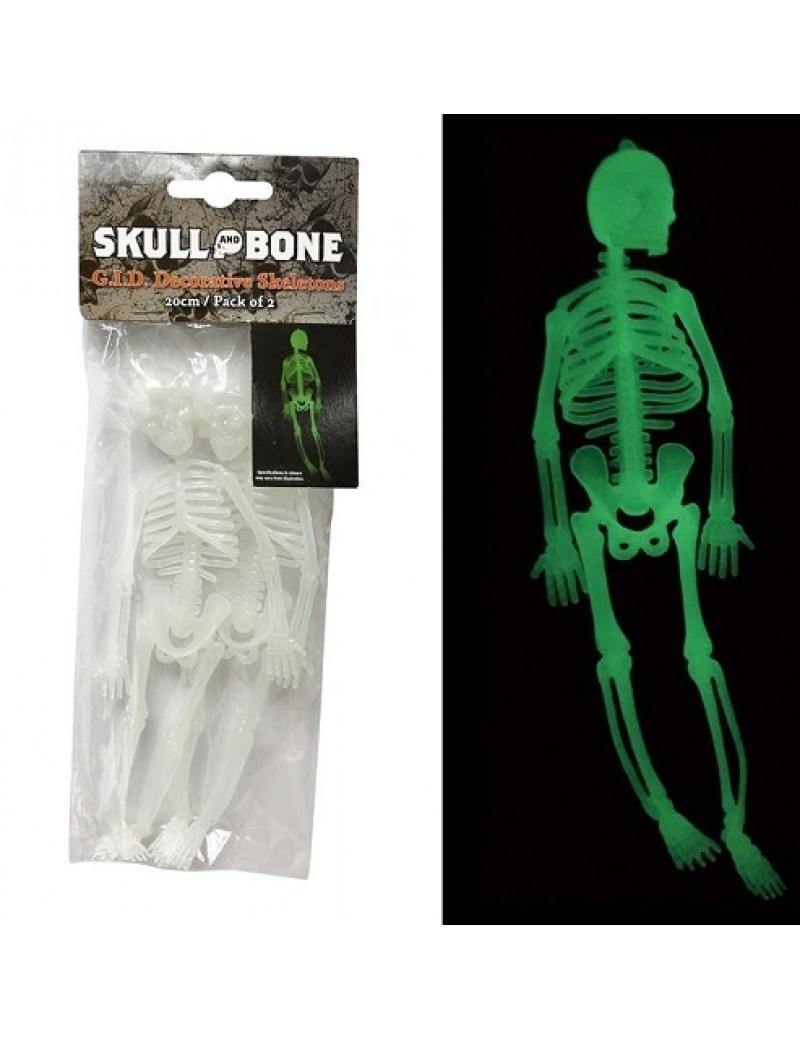 GID Skeletons Pack Of 2