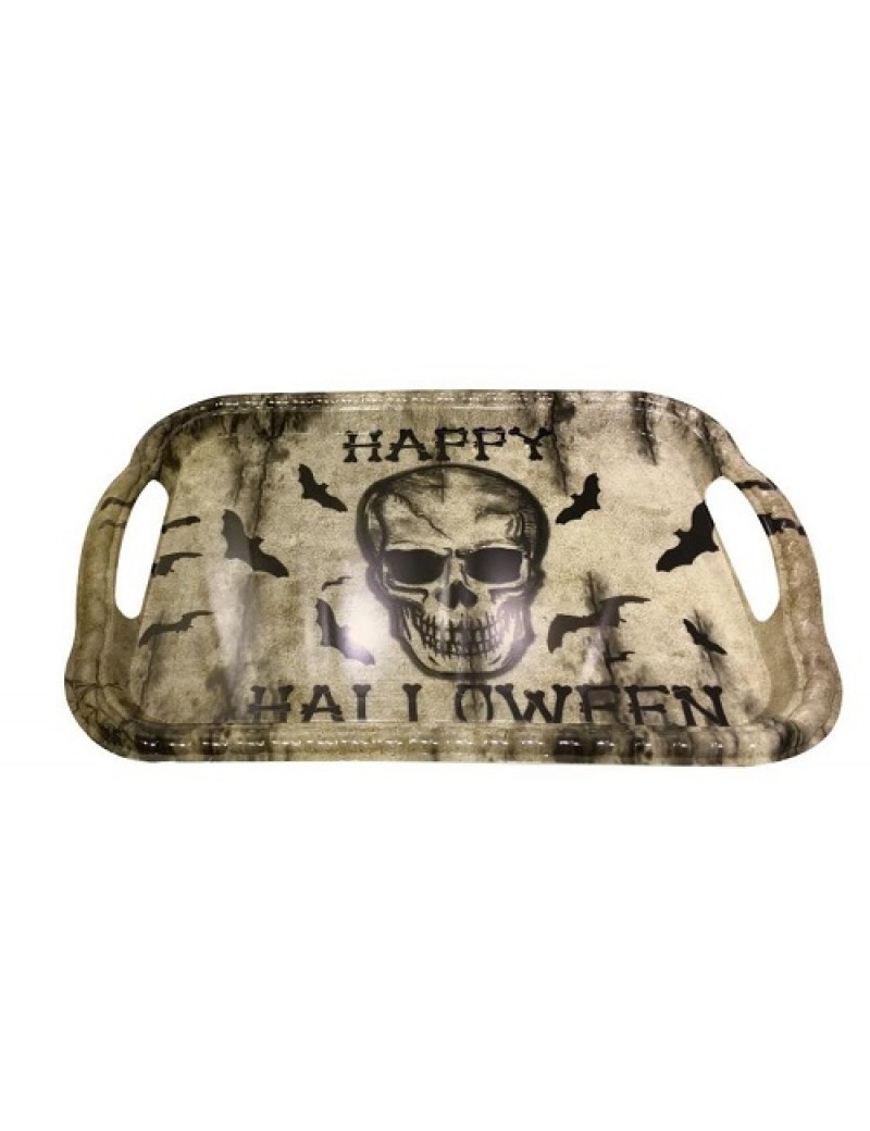 Skull Halloween Rectangle Serving Tray