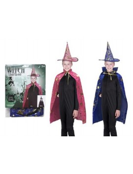 Witch Cape And Hat Dress Up Set