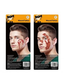 Bloody Face Wounds Temporary Tattoos Bites And Stings