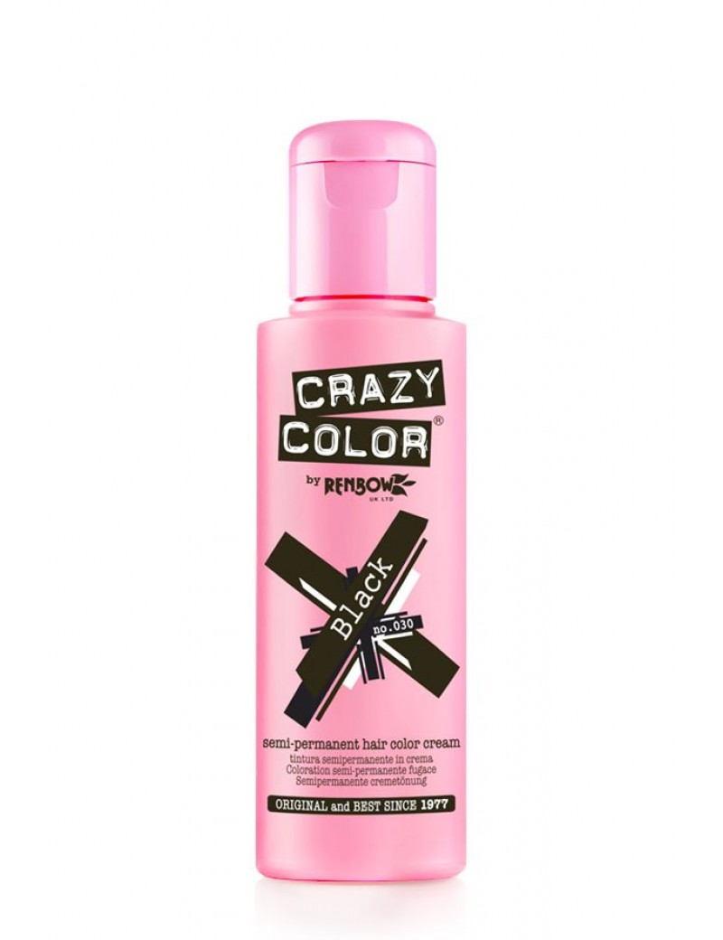 Crazy Color Semi-Permanent Hair Dye 100 ml Black