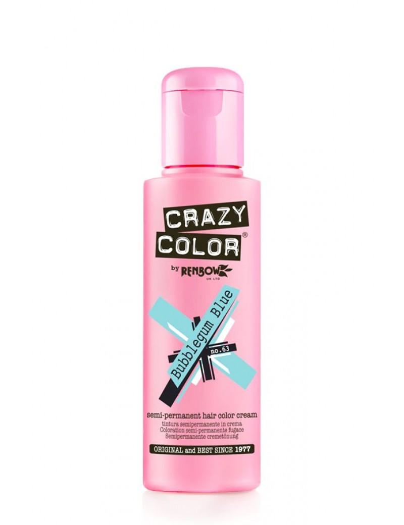 Crazy Color Semi-Permanent Hair Dye 100 ml Bubblegum Blue