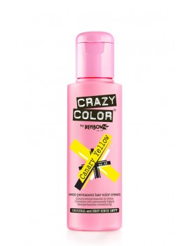 Crazy Color Semi-Permanent Hair Dye 100 ml Canary Yellow